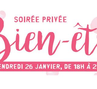 """SOIRÉE PRIVÉE autour du """"Bien être"""" pour célébrer la nouvelle année !"""