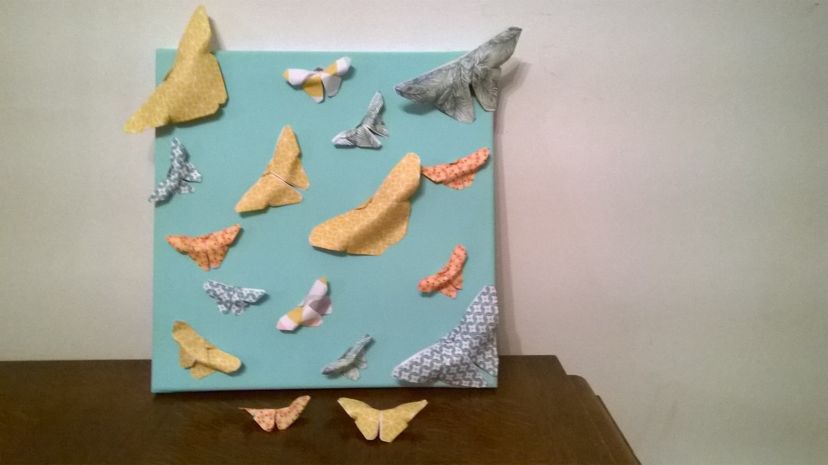 Atelier Tableau papillons origami
