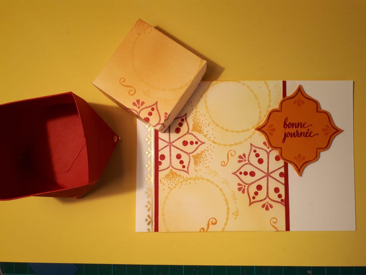 Cartes et boites diamant aux couleurs de l'orient