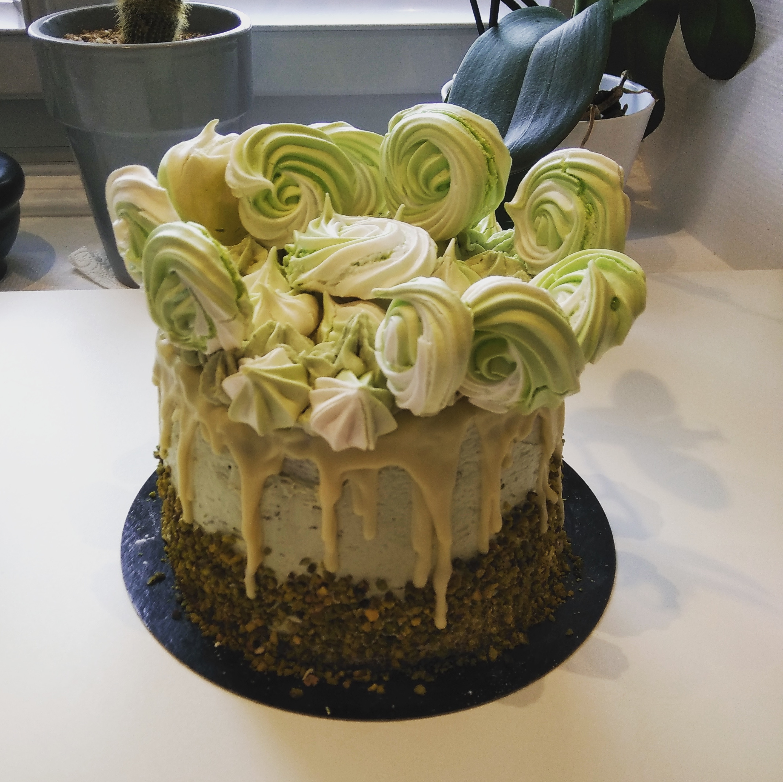 Layer cake à la pistache