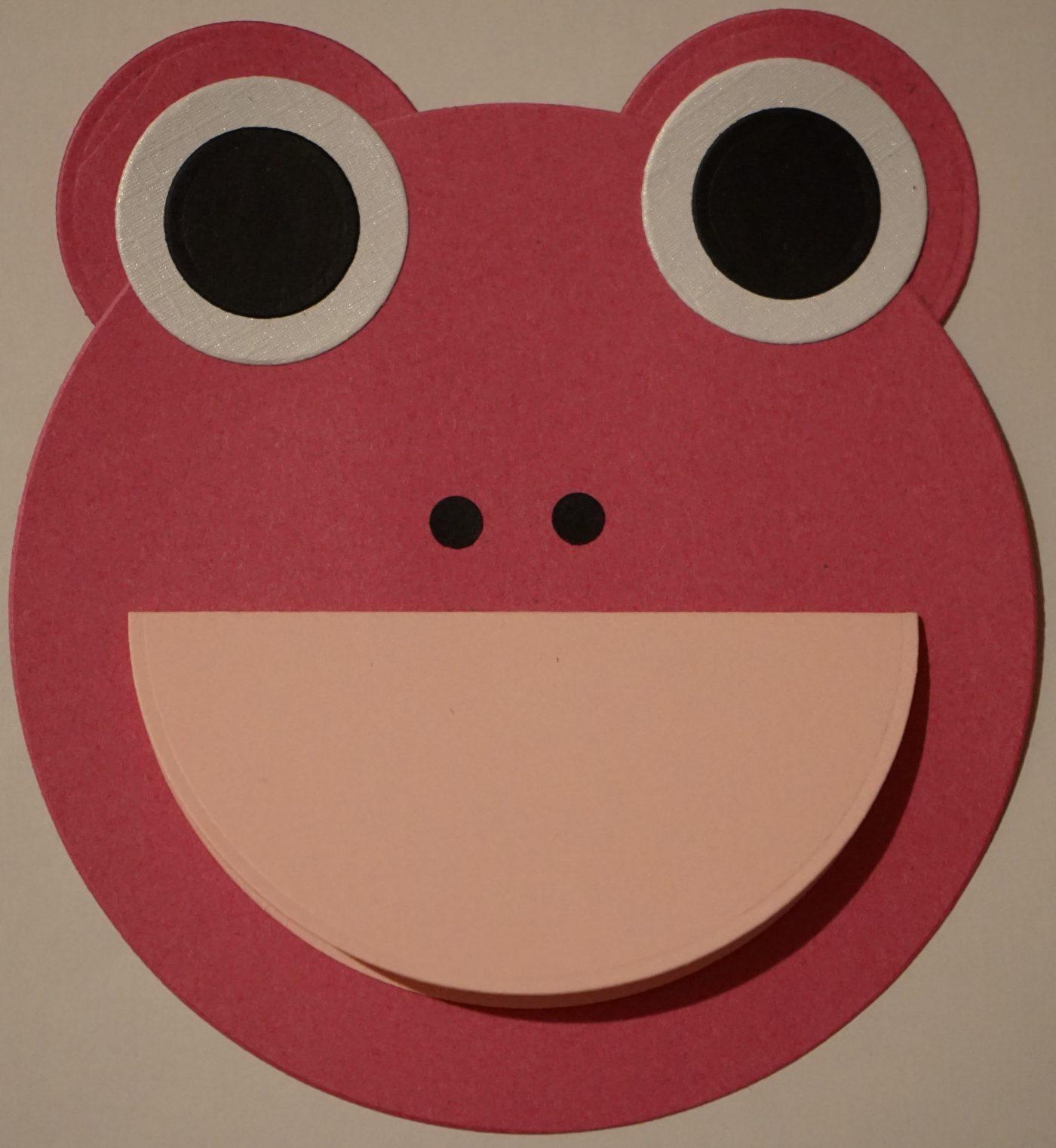 Carte anniversaire grenouille