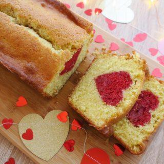 Cake citron framboise spécial Saint Valentin