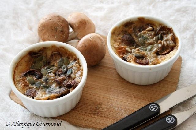 Clafoutis aux champignons { sans gluten, sans oeufs }