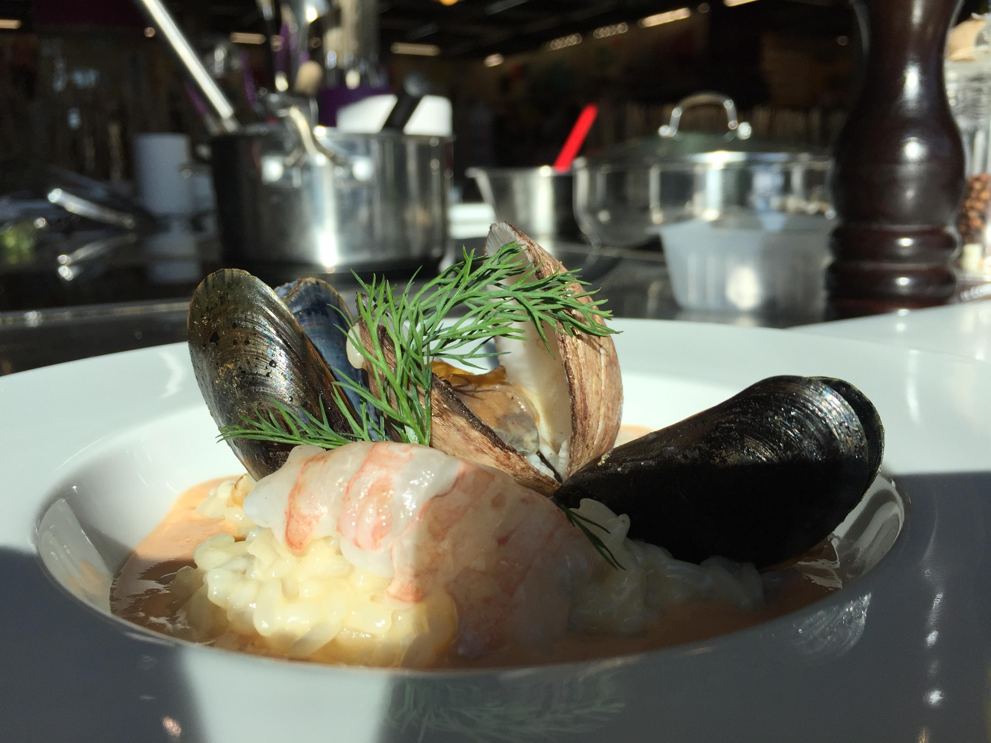 Cours de Cuisine avec Pascal Guerin:Risotto aux Fruits de Mer