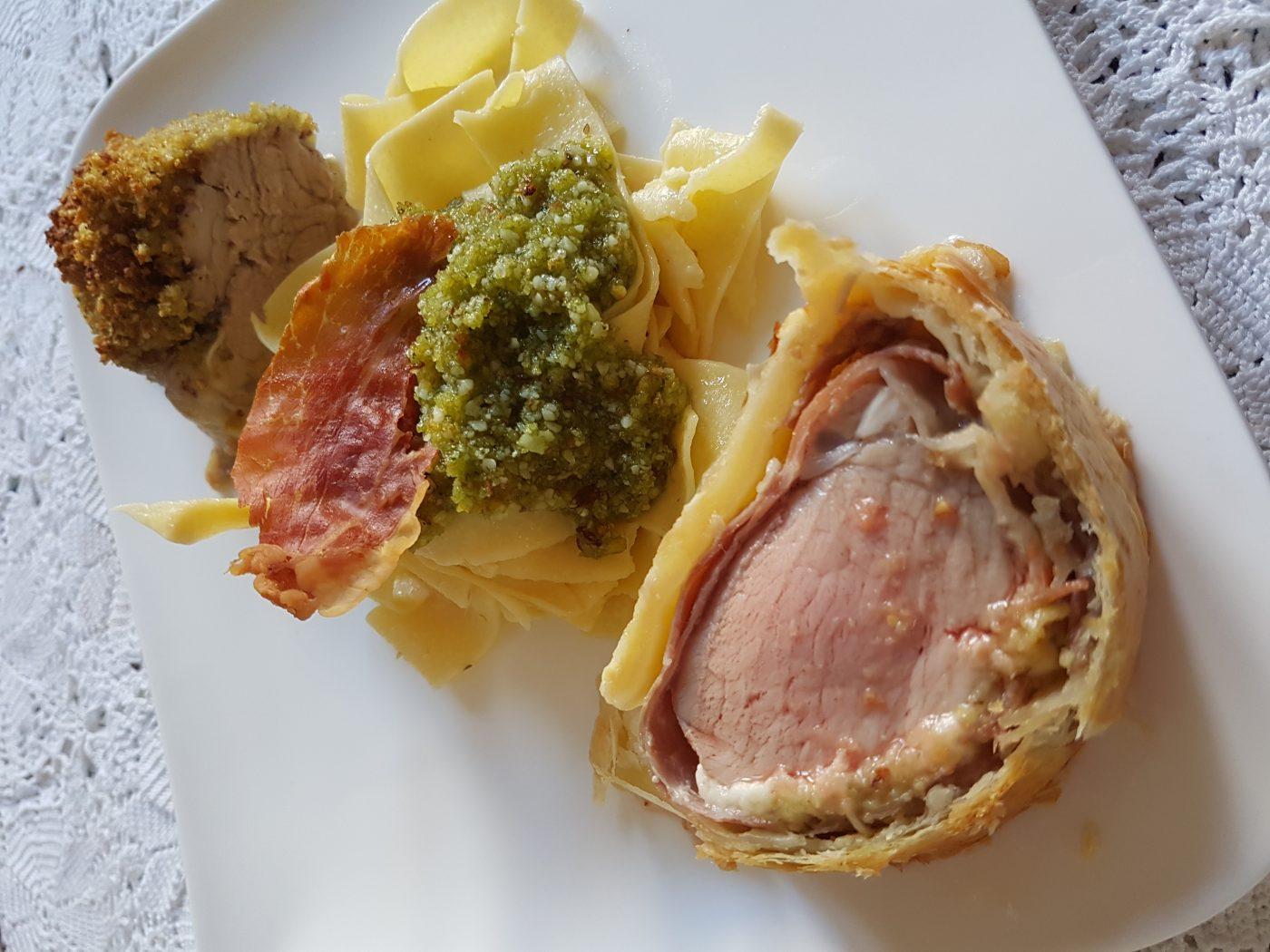 Filet mignon de porc en diverses croûtes