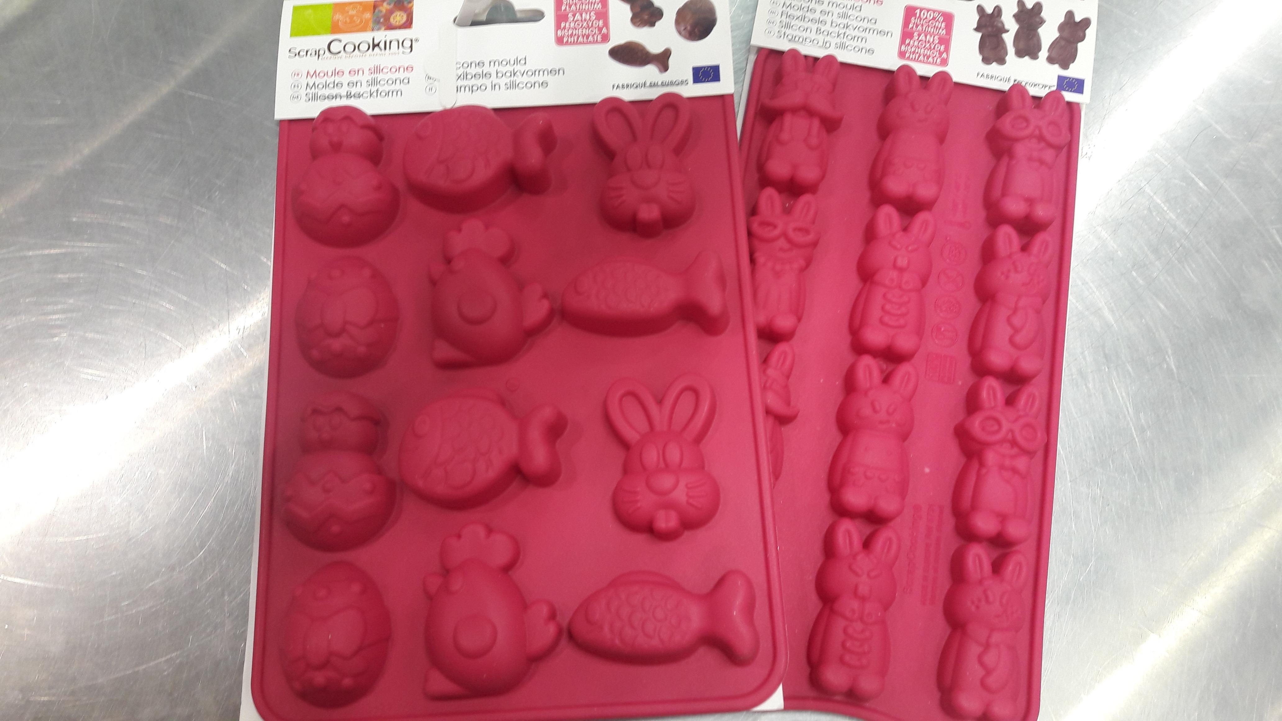 J'ai testé pour vous le moules à chocolat en forme de lapins rigolos