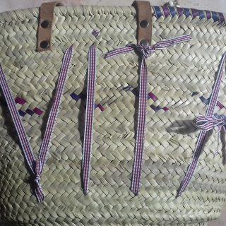 Personnalisation de mon sac en paille 🍎🍌🍄🍅🍇🍓🍒🍍