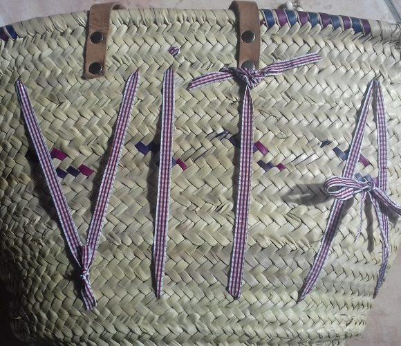 Personnalisation de mon sac en paille ????????