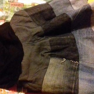 Recyclons un jean en jupe 😀