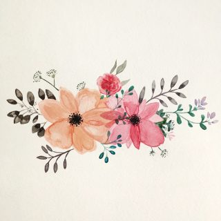 Des fleurs à l'aquarelle