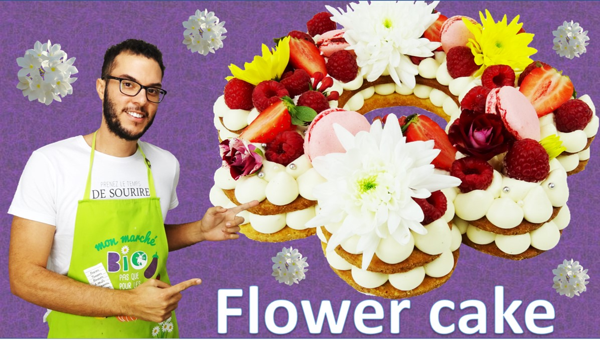 le Flower cake ou Number cake