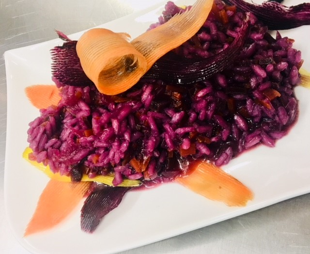 Risotto à la carotte violette