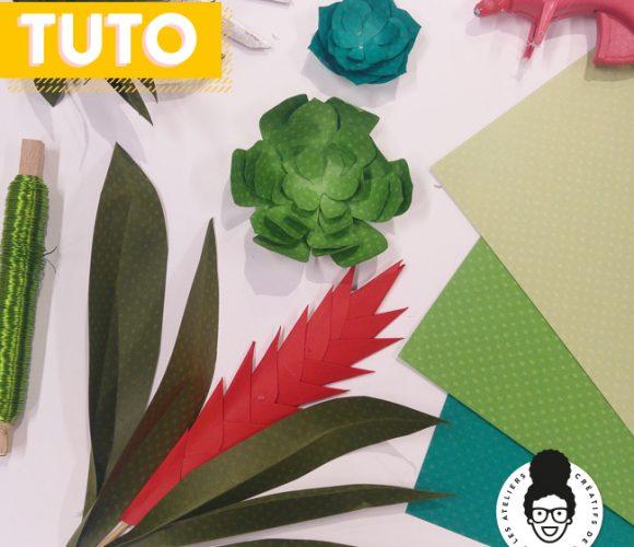 TUTORIEL «Plantes en papier DIY» !