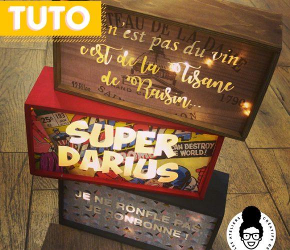 TUTORIEL «light box DIY» – des boîtes qui déboîtent !!!