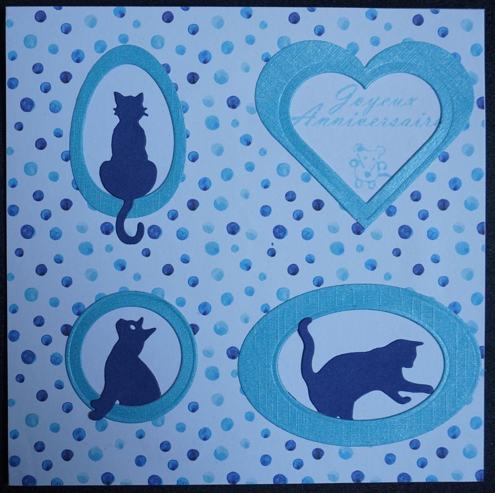 Carte bleu chats