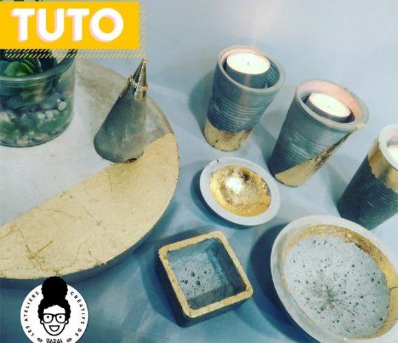 TUTORIEL «béton créatif DIY» !