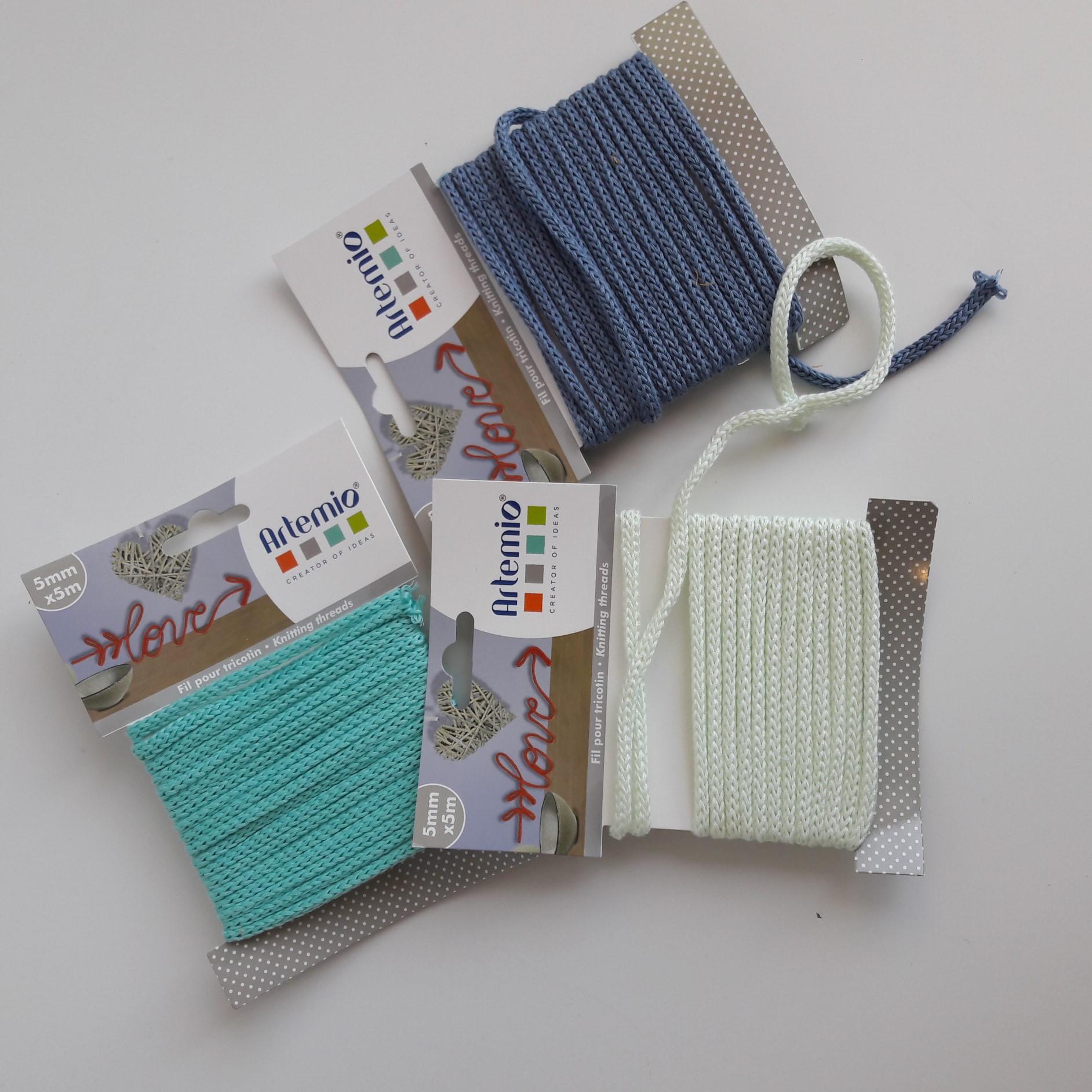 artemio fil tricotin polyester bleu sarcelle 5mmx5m pas cher z dio. Black Bedroom Furniture Sets. Home Design Ideas