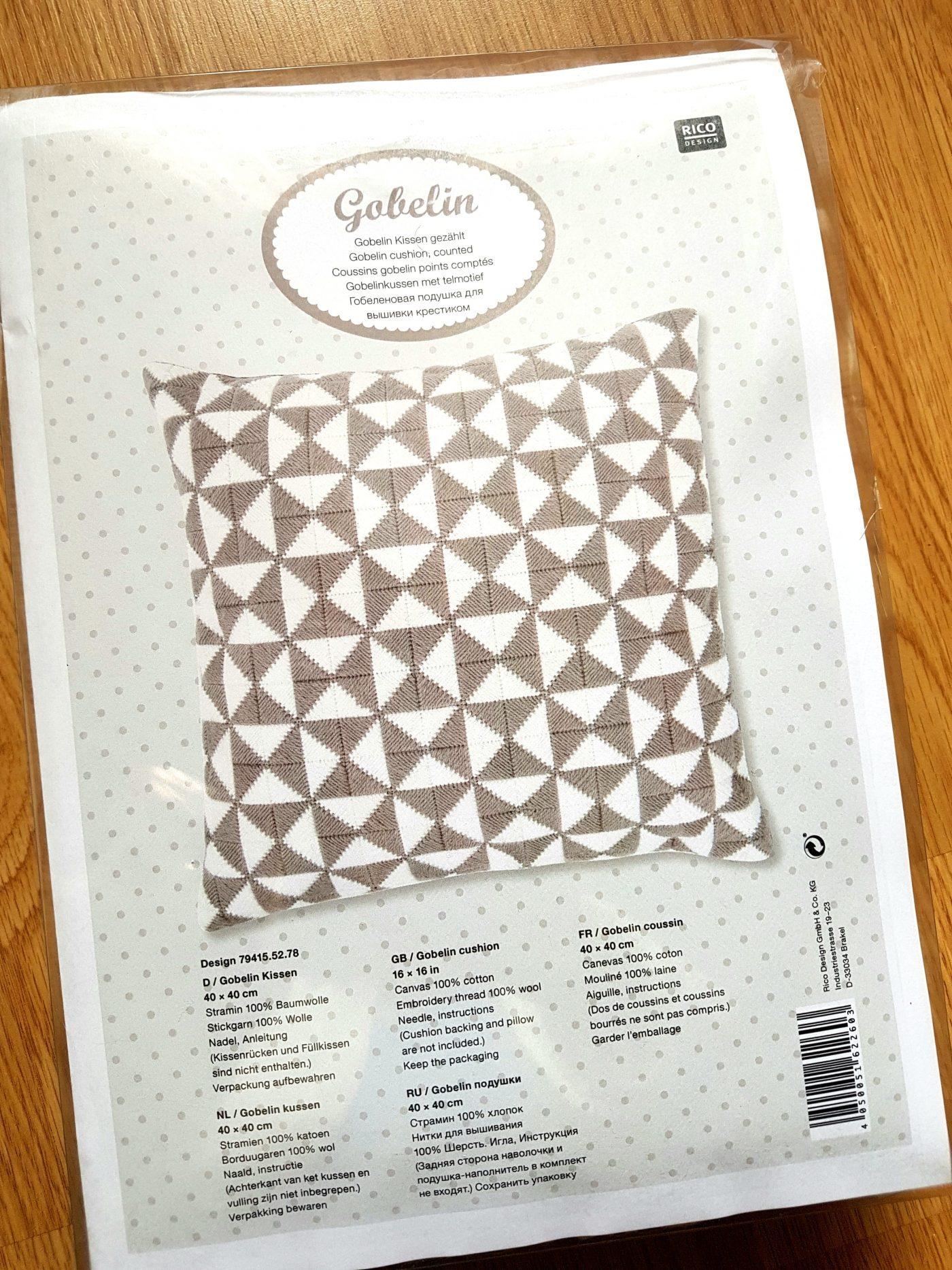 J'ai testé pour vous le KIT COUSSIN au point de Gobelin Rico Design