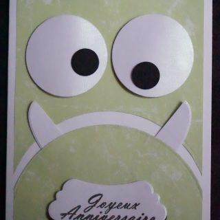 Carte anniversaire monstre