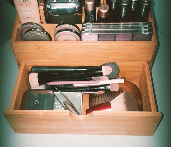 J'ai testé pour vous rangement Maquillage Bambou