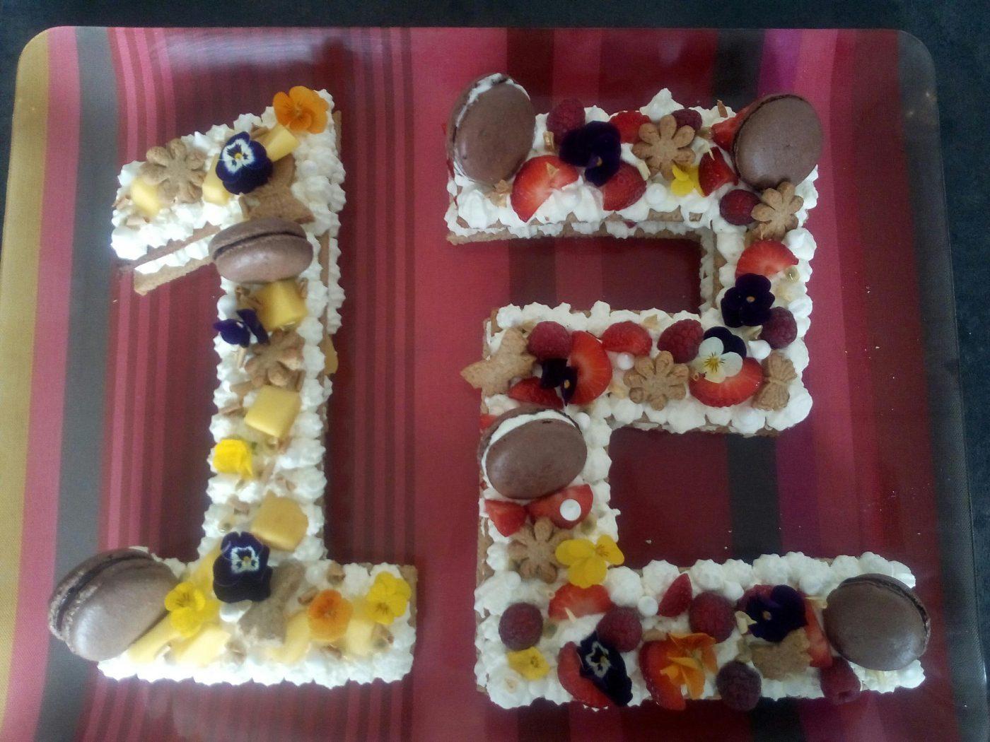number cake frais et coloré