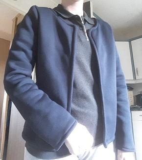 Couture d'une veste modèle