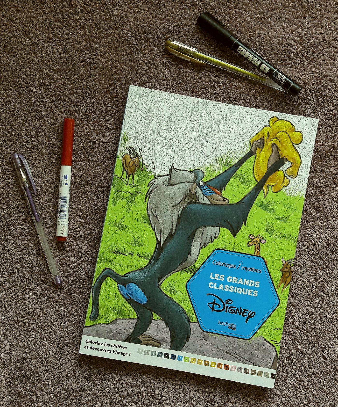 J'ai testé pour vous le livre de coloriages mystères : les grands classiques Disney