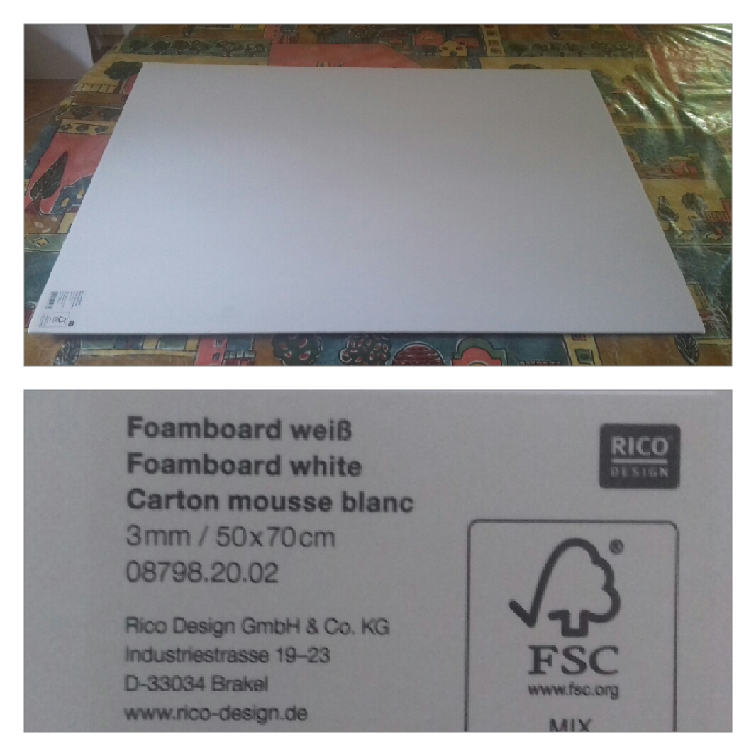 J'ai testé pour vous le support carton mousse blanc 50x70