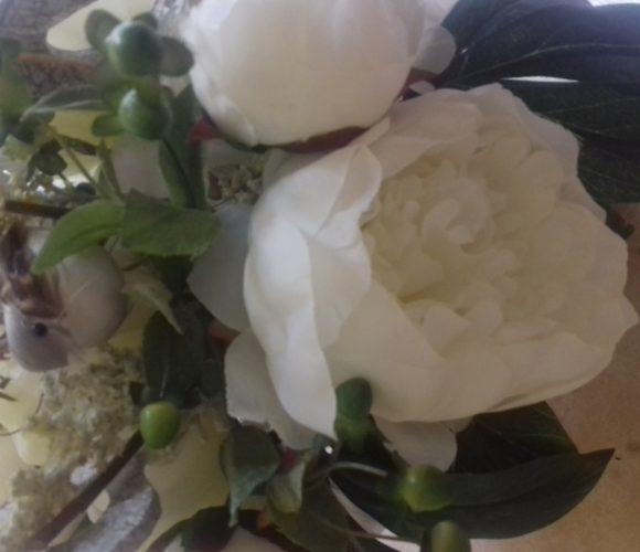 Joli bouquet romantique  table des mariés ❤
