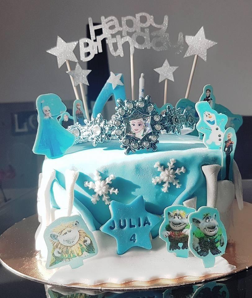 Gâteau thème reine des neiges