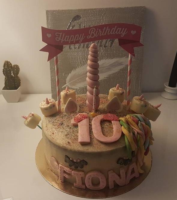 mon premier gâteau licorne