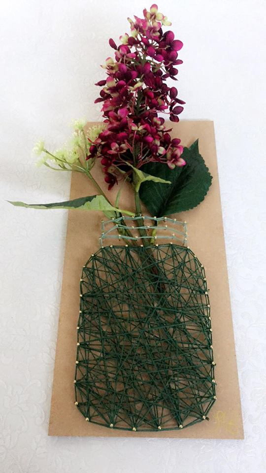 String Art- Flowers & Jar