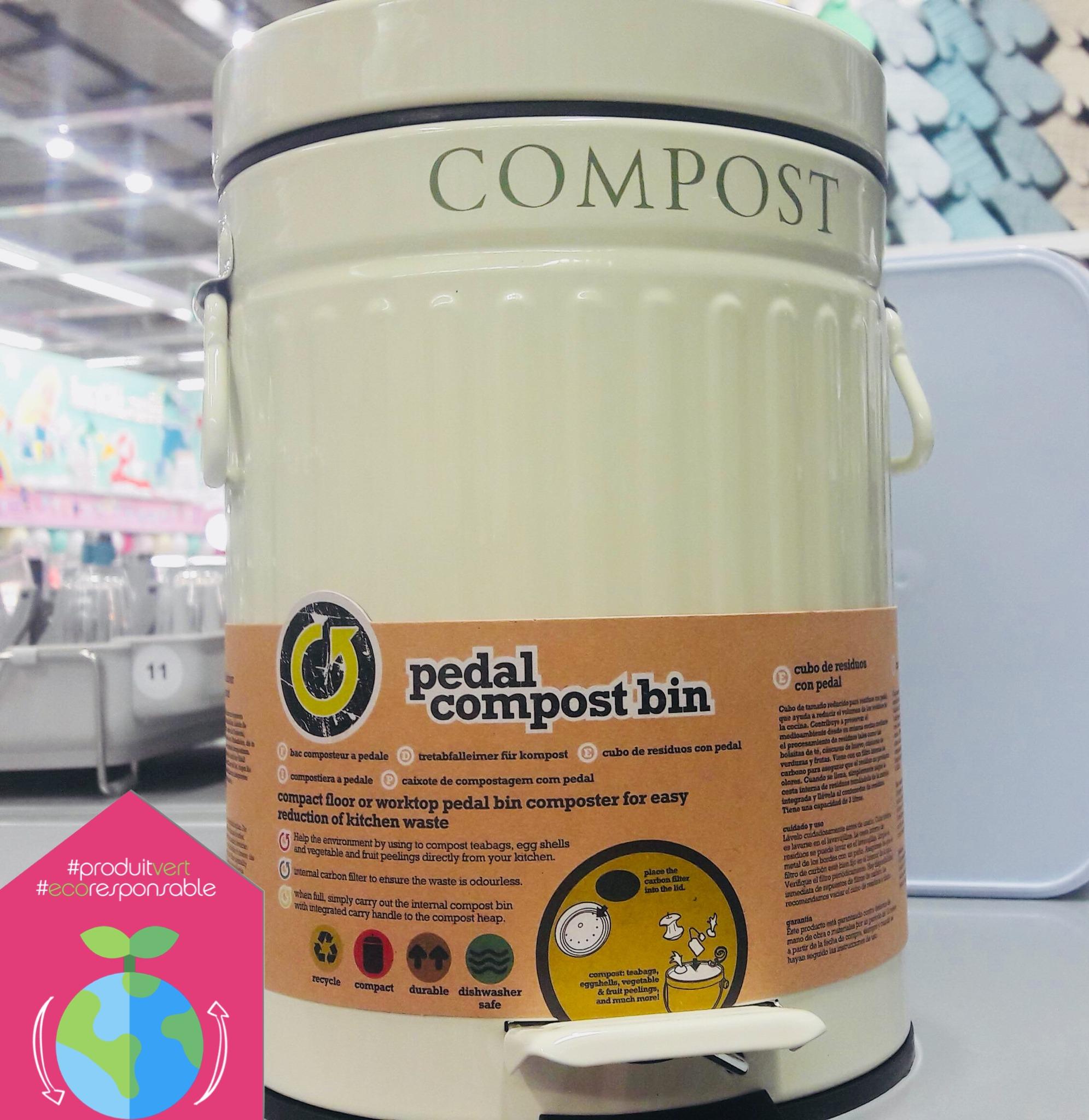 La poubelle à compost!!!!!