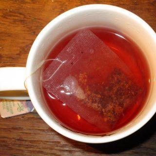 L'infusion de baies d'églantier pomme framboise.