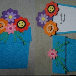 Carte pot de fleur pour la fête des mères