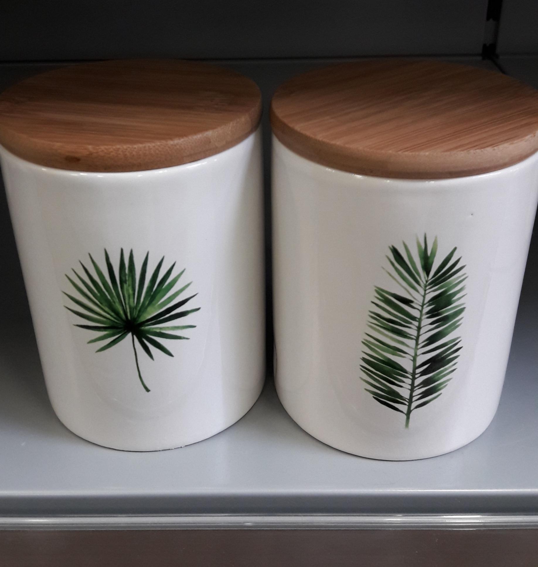 J'ai testé pour vous les bocaux en céramique motif feuilles
