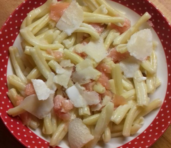 Strozzapreti saumon fumé et Mascarpone