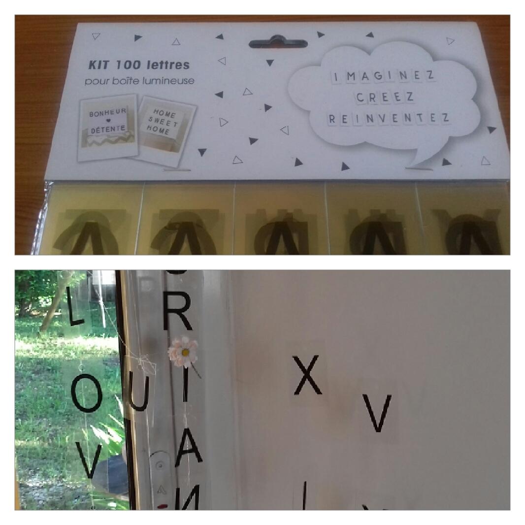 j 39 ai test pour vous les lettres pour bo te lumineuse x. Black Bedroom Furniture Sets. Home Design Ideas