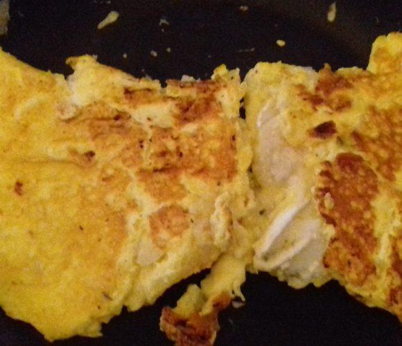Omelette savoureuse oignons chevre parmesan avec Ilan 12 ans