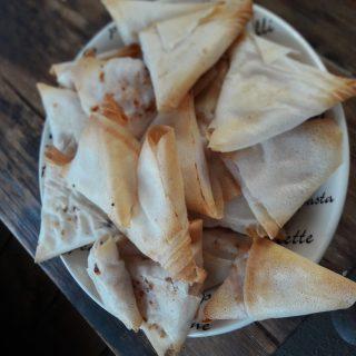 Samosas Chèvre Jambon Miel