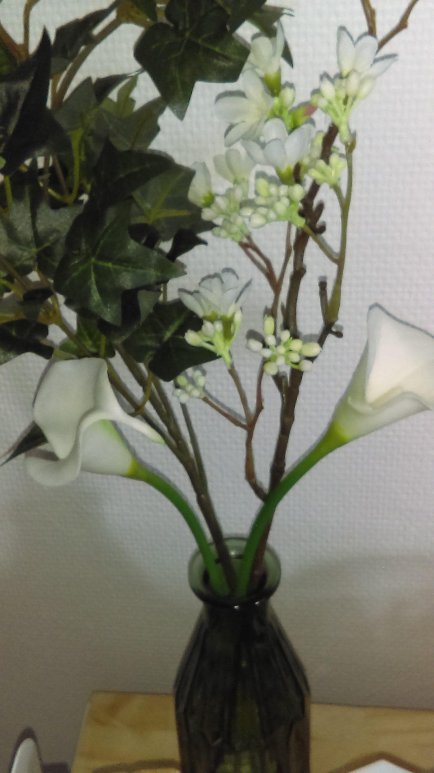 Vases et dame jeanne pour composition florale