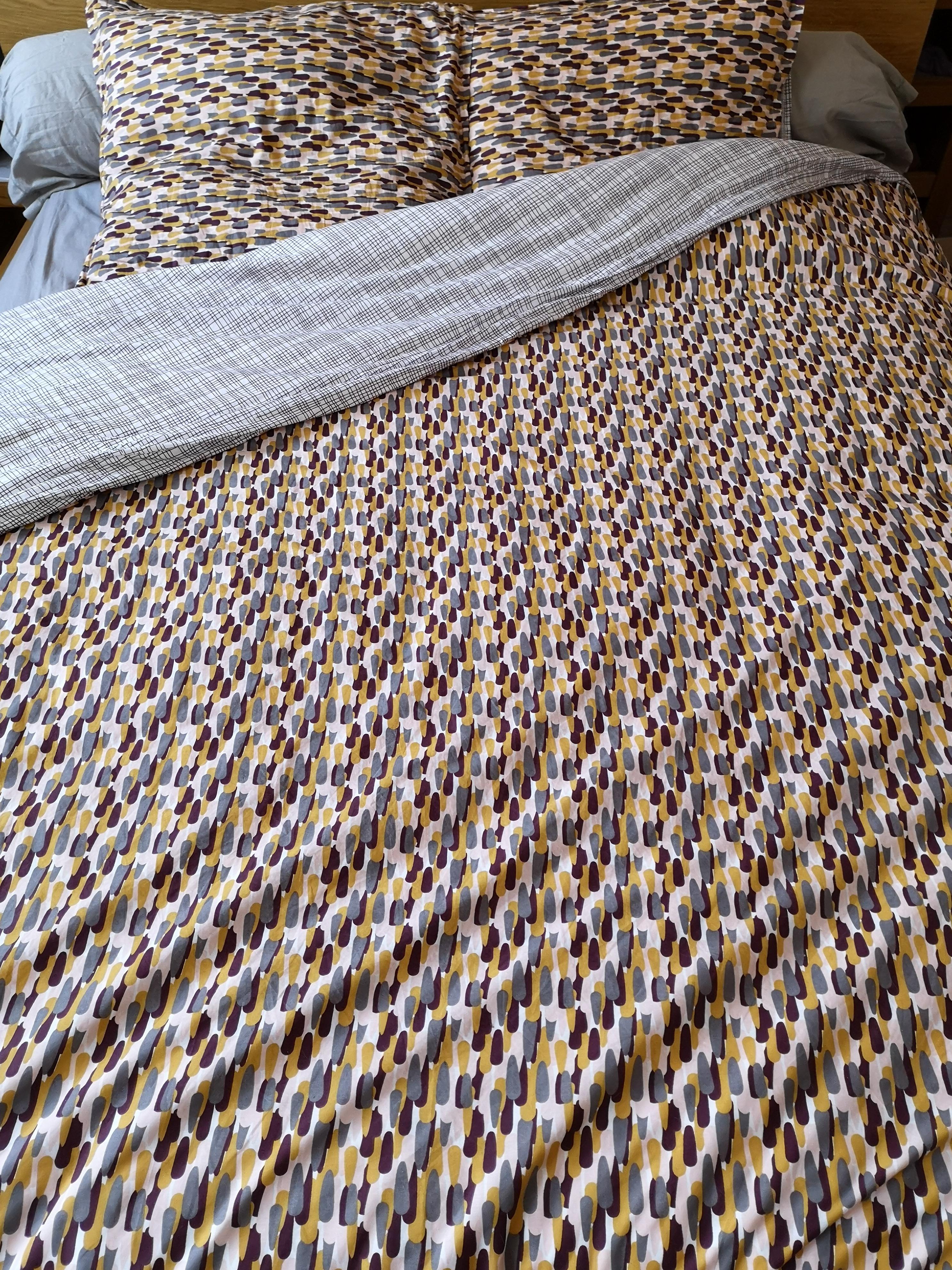 maom housse de couette en percale terre rouge carillon 140x200cm pas cher z dio. Black Bedroom Furniture Sets. Home Design Ideas