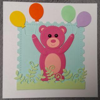 carte ours aux ballons