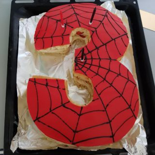 Number Cake Spiderman