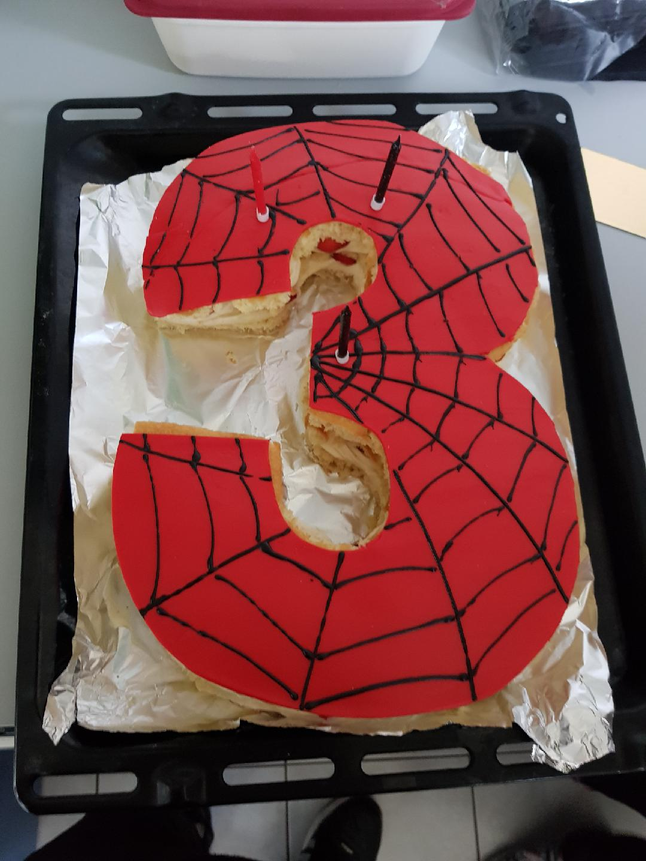 Number Cake Spiderman