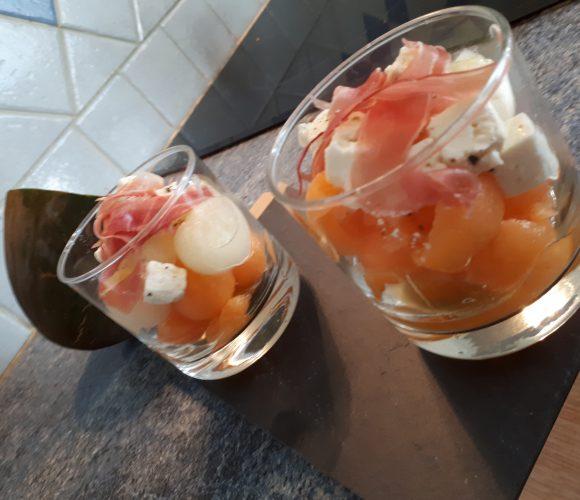 Duo de melon à la féta