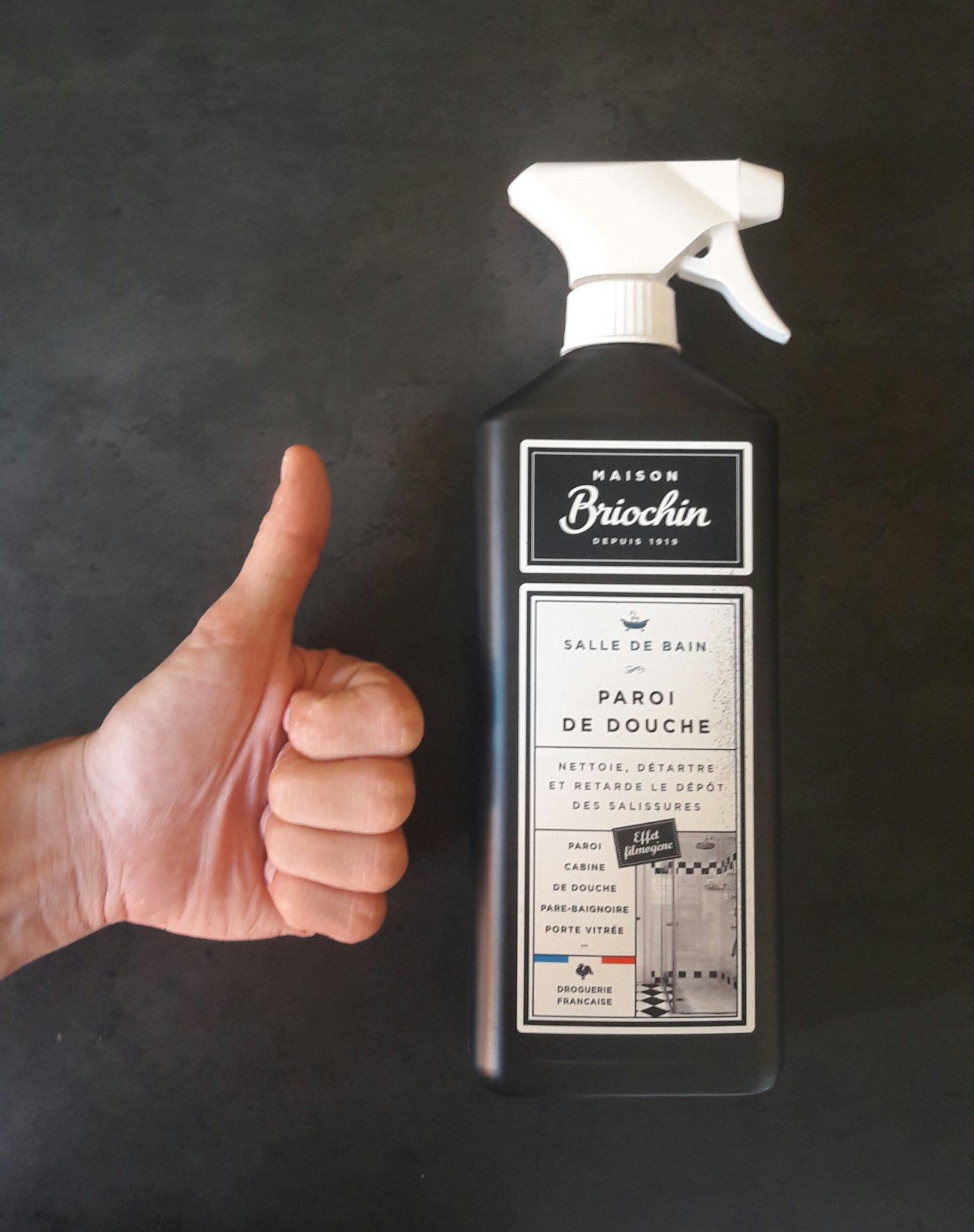 J'ai testé pour vous le nettoyant pour paroi de douche Briochin