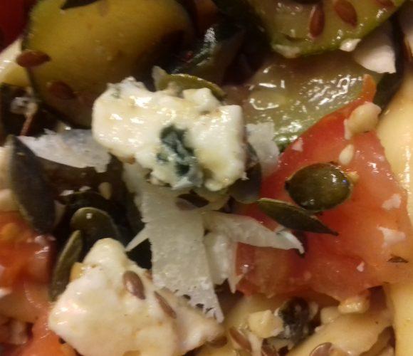 Salade de strozzapreti roquefort