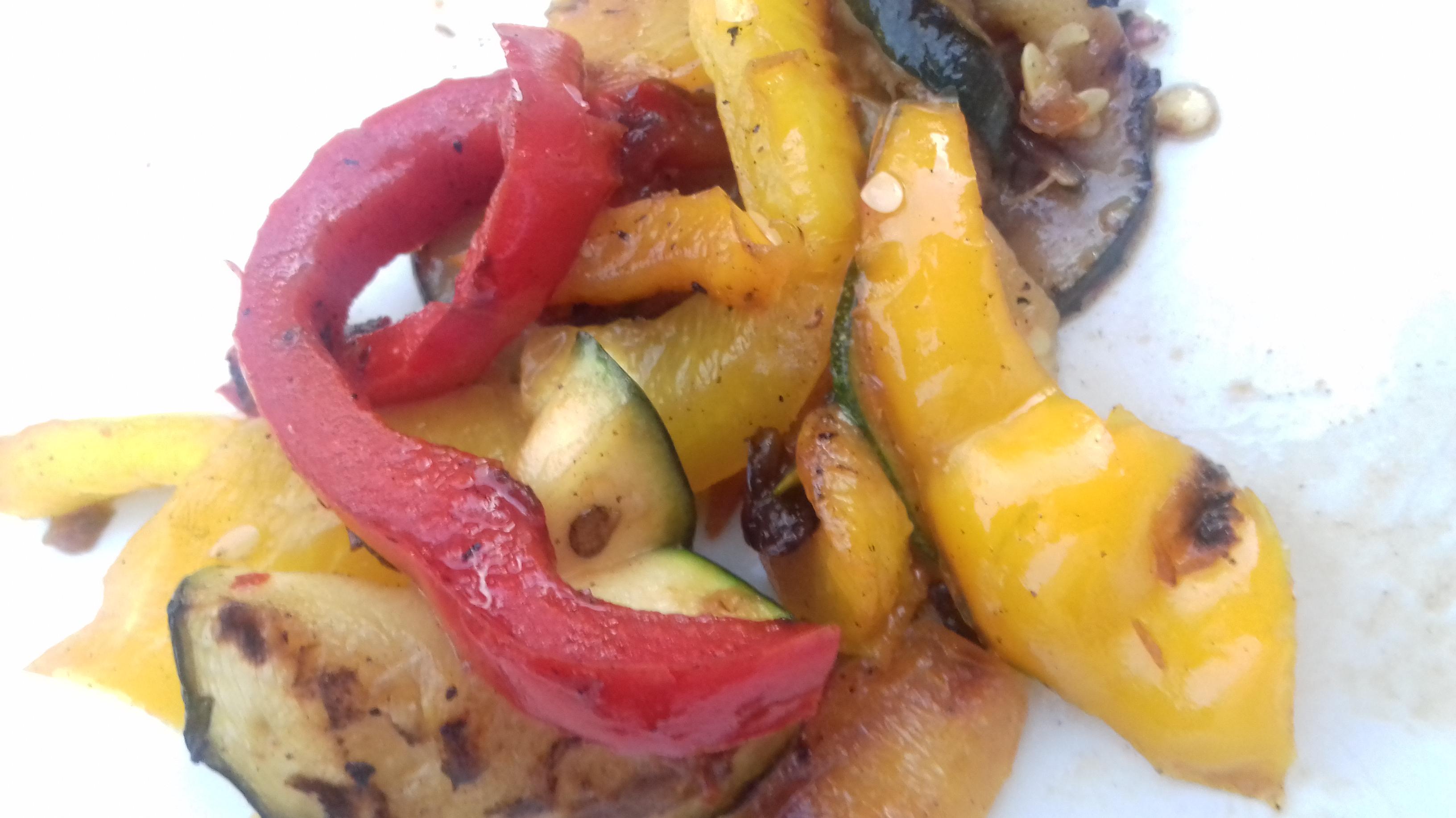 Legumes marinés à la plancha 🍅🍆