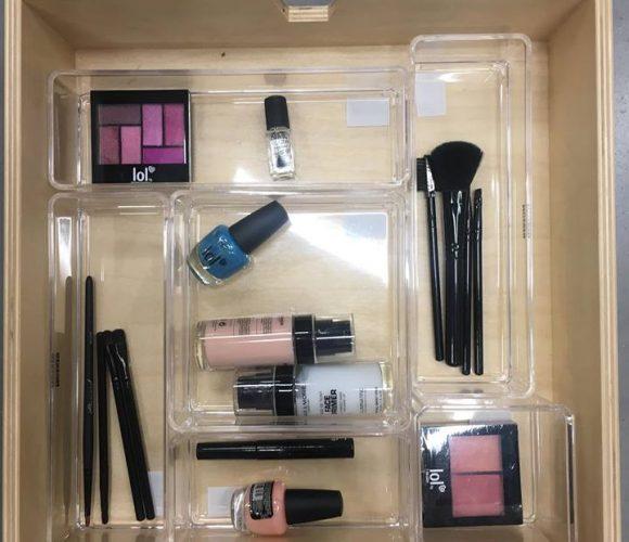 J'ai testé pour vous le rangement maquillage acrylique superposable